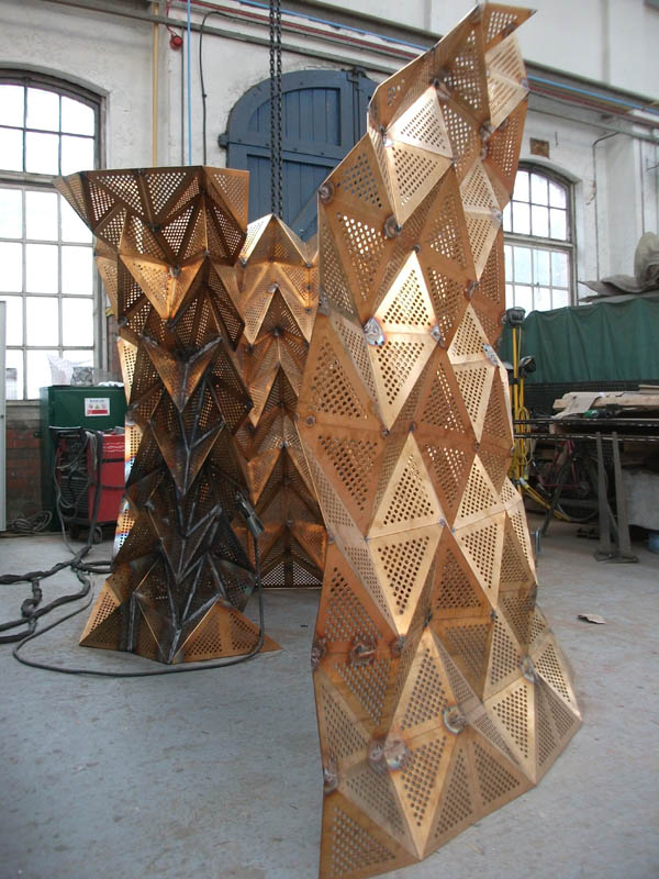 Unfurl, work in progress at the National Sculpture Factory, Cork, Ireland